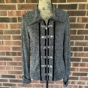 White House Black Market military style cardigan